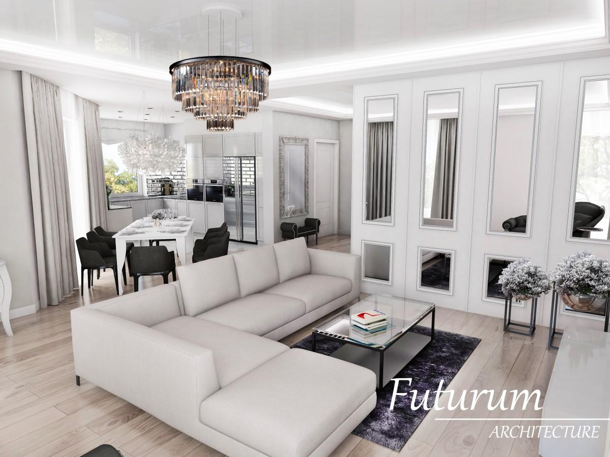 Dom Pod Warszawą W Stylu Glamour Futurumarchitecture